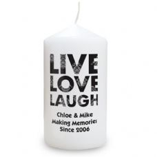 Live Love Laugh Candle